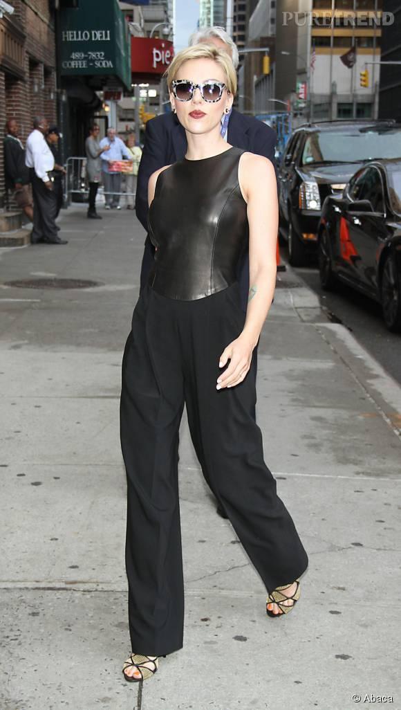 """Scarlett Johansson était l'invitée du """"Late Show""""."""