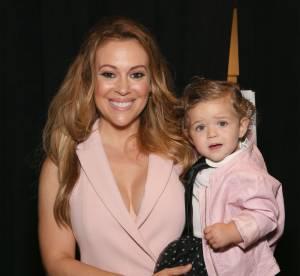 Alyssa Milano : En front row avec sa baby girl