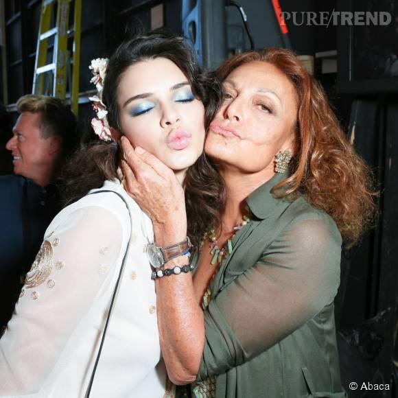 Kendall Jenner et Diane Von Furstenberg.