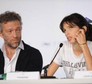 """Vincent Cassel et la réalisatrice Maïwenn lors de la présentation du film """"Mon Roi"""" pendant le Festival de Cannes de 2015."""