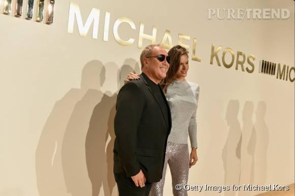 Michael Kors et Alessandra Ambrosiolors de la soirée de lancement du nouveau parfum Gold de Michael Kors à New York le 13 septembre 2015.