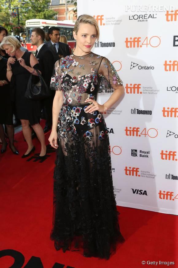 """Rachel McAdams à la première du film """"Spotlight"""" au Festival International du Film de Toronto le 14 septembre 2015."""