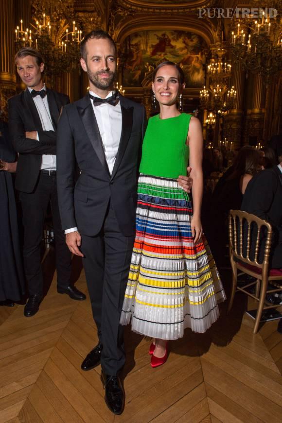 Natalie Portman et son mari Benjamin Millepied à la soirée de lancement de la saison 2015/2016 du palais Garnier.