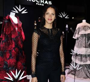 Noémie Lenoir, invitée du défilé Rochas.