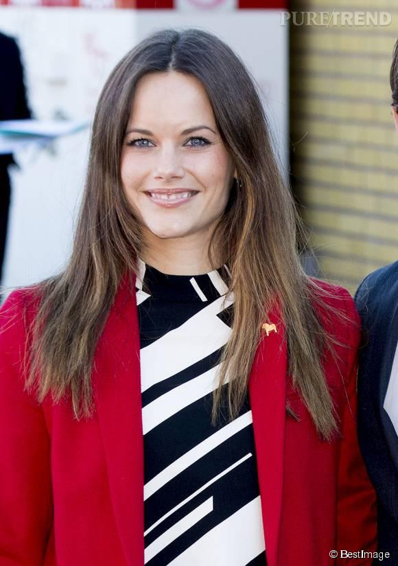 La ravissante Sofia de Suède, tirée à quatre épingles. On est loin de la bimbo de téléréalité !