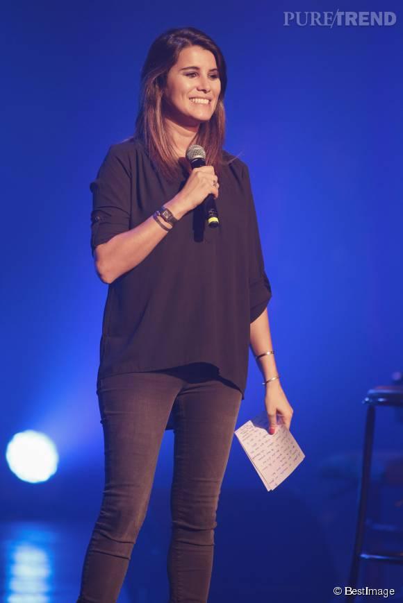 Karine Ferri animant le concert RFM Music Live de Lille le 28 septembre 2015.