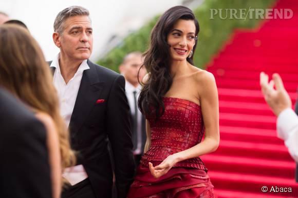 Amal Clooney a dévoilé sa culotte ce 3 octobre 2015 à Londres.