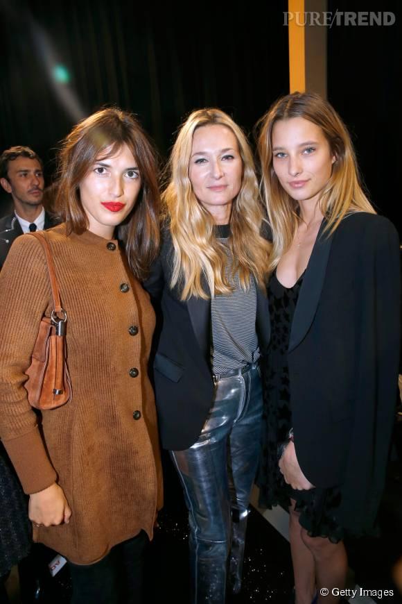 Jeanne Damas, Julie de Libran et Ilona Smet au défilé Sonia Rykiel Printemps-Été 2016 à Paris.