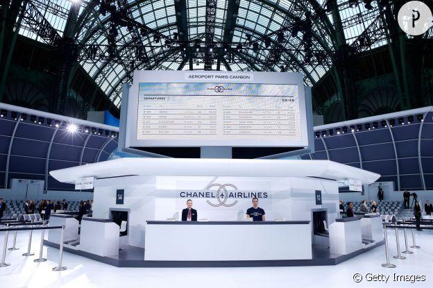 Décors du défilé Chanel Printemps-Été 2016.
