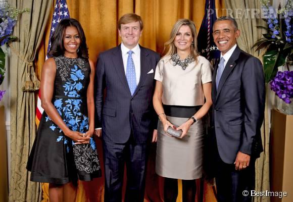 Michelle et Barack Obama ont rencontré le roi et la reine des Pays-Bas.