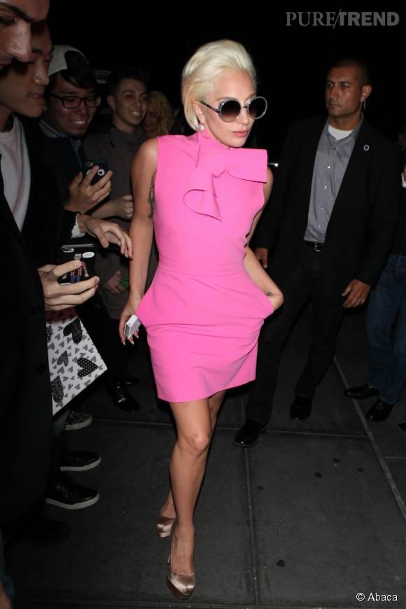 Lady Gaga dans les rues de New York le 6 octobre 2015.