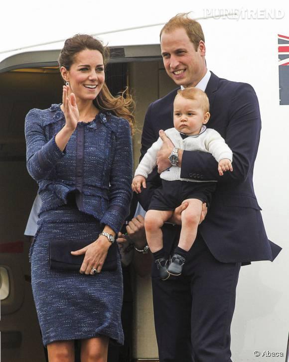 Le prince George est entouré de gardes du corps : surtout lorsque ses parents sont en déplacement.