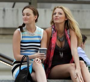 """Leighton Meester et Blake Lively dans """"Gossip girl""""."""