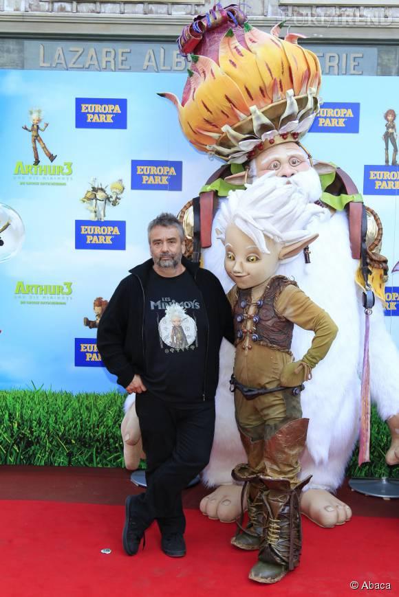 """Luc Besson pour l'avant-première allemande du troisième volet """"d'Arthur et les Minimoys""""."""