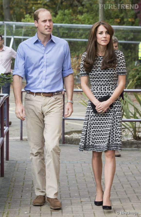 Kate Middleton très amaigrie avec le Prince William, ce samedi 10 octobre 2015 à Londres.
