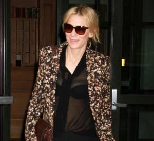 Cate Blanchett est pour la tranparence, oui, mais avec mesure.