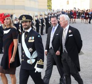 Le prince Carl Philip de Suède au baptême de son filleul, ce 11 octobre 2015.