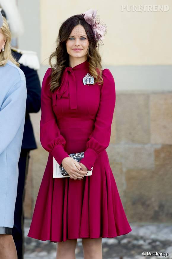 Sofia Hellqvist, épouse de Carl Philip de Suède ce dimanche 11 octobre 2015.