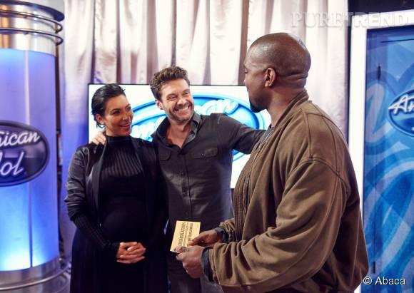 Kim Kardashian est venue accompagner son mari.