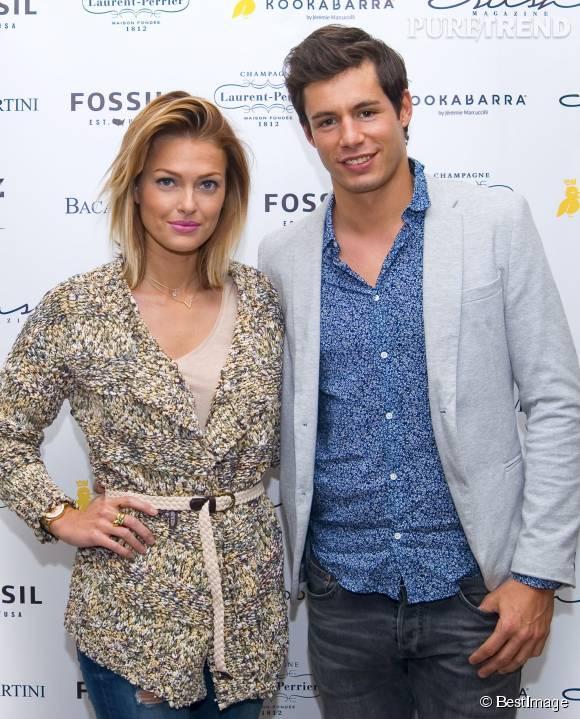 Caroline Receveur et son compagnon Valentin Lucas.