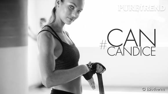 Candice Swanepoel se plie en quatre pour Biotherm ! #CanCandice ? Yes she can !