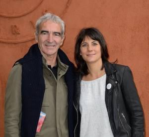 Estelle Denis et son compagnon Raymond Domenech.