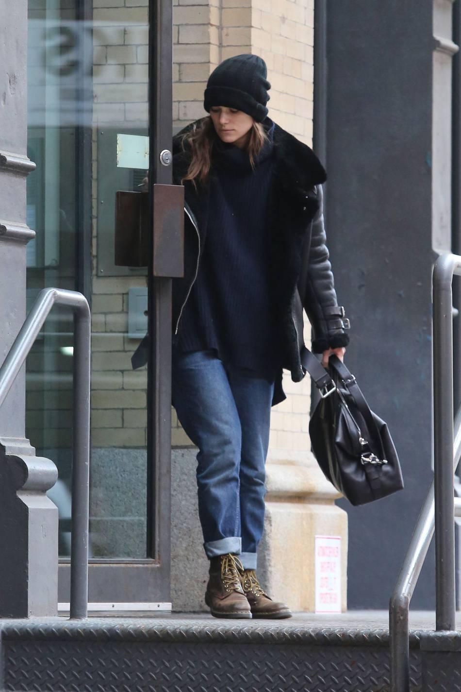 L'actrice britannique  Keira Knightley  à New York
