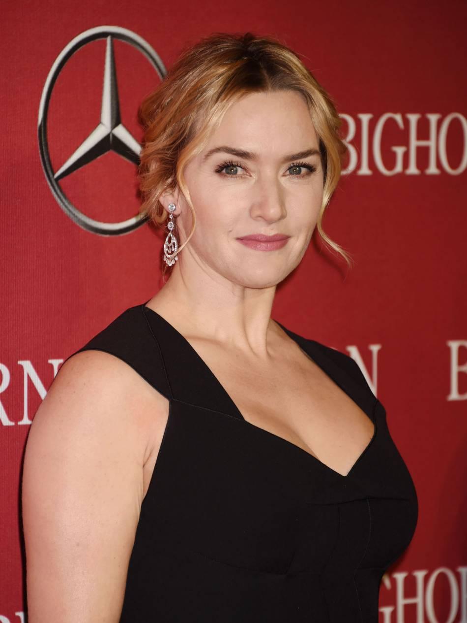 Kate Winslet opte pour un maquillage naturel.