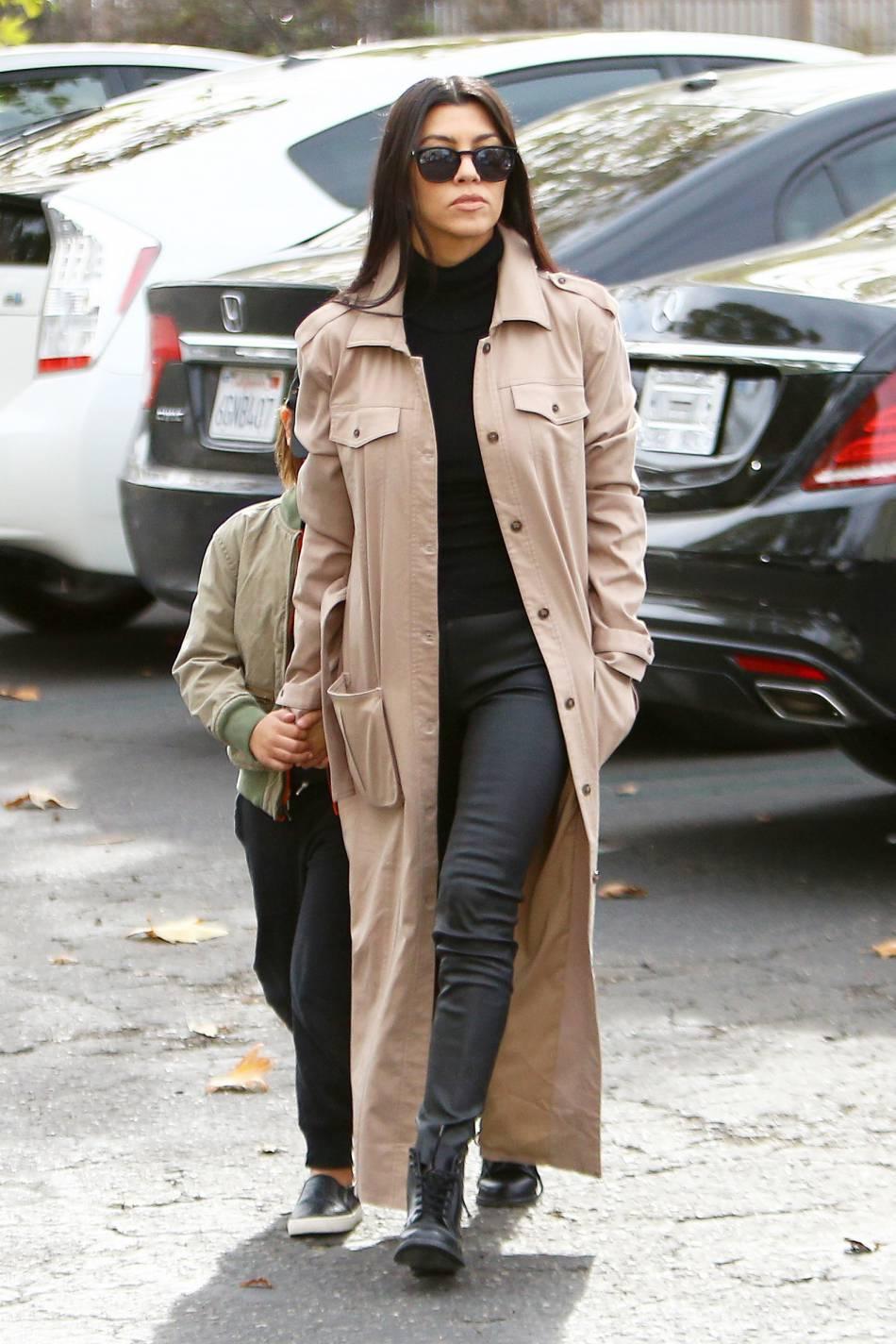 Kourtney Kardashian à la pointe de la mode.
