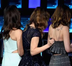 Un incident a marqué cette soirée puisque la robe de Dakota Johnson a craqué. Heureusement, Leslie Mann était là pour veiller à ce qu'elle ne termine pas topless sur scène.