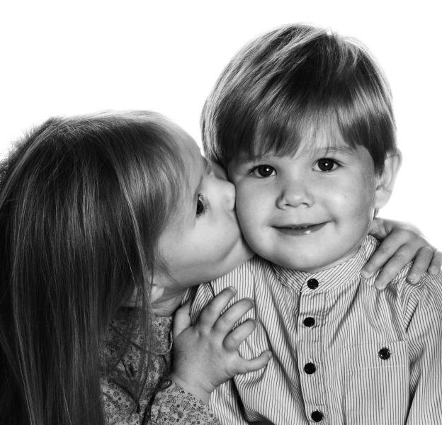 Le prince Vincent et la princesse Josephine le 8 janvier 2014, lors de leur trois ans.