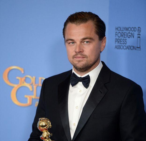 """Leonardo DiCaprio remporte le Golden Globe du Meilleur acteur pour son interprétation dans """"The Revenant"""" lors de la cérémonie des Golden Globes 2016."""