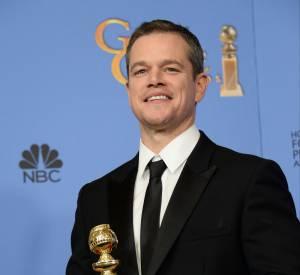 """Matt Damon, Meilleur acteur dans une comédie avec """"Seul sur Mars""""."""