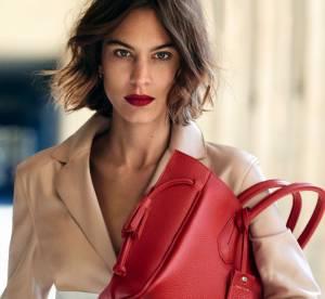 Alexa Chung working-girl chic et élégante pour Longchamp
