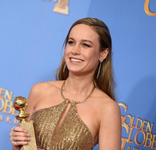 Brie Larson a été sacrée meilleure actrice dramatique lors des Golden Globes le 10 janvier 2016 à Los Angeles.