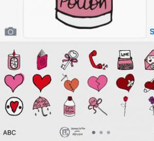 Des cœurs, beaucoup de cœurs à envoyer grâce aux emoji d'Olympia Le Tan x Diptyque.