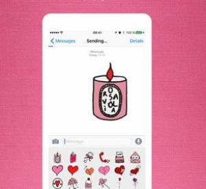 Le clavier d'emojid'Olympia Le Tan x Diptyque est dès à présent disponible, gratuitement, sur l'Apple Store.