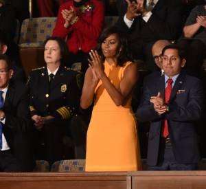 Michelle Obama au dernier discours sur l'état de l'Union devant le Congrès le 12 janvier 2016 à Washington.