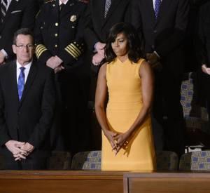 Avec sa robe Narciso Rodriguez, Michelle Obama a enflammé la Toile.