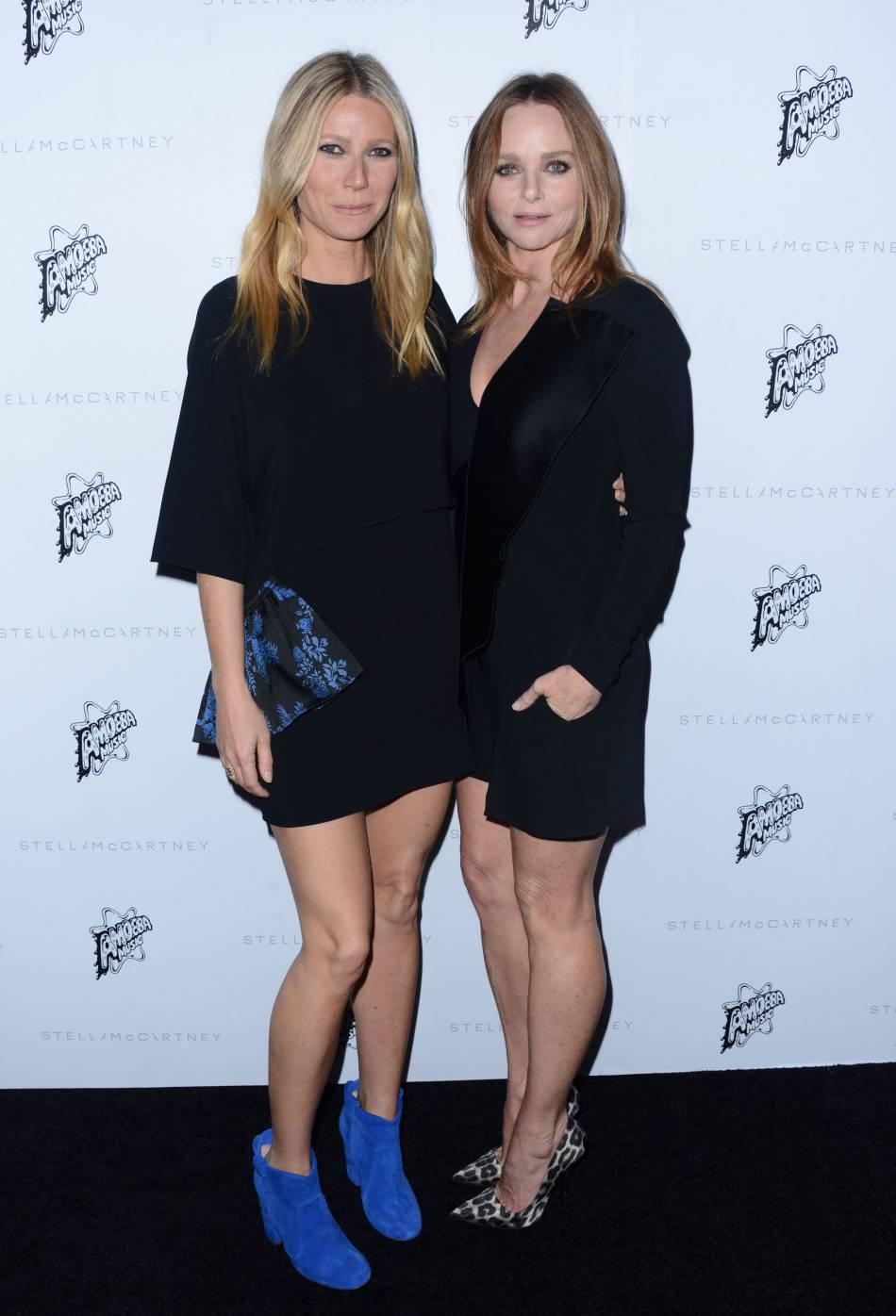 Gwyneth Paltrow et Stella McCartney à la présentation de la collection de l'Automne 2016 de Stella McCartney, à Los Angeles, ce mardi 12 janvier 2016.