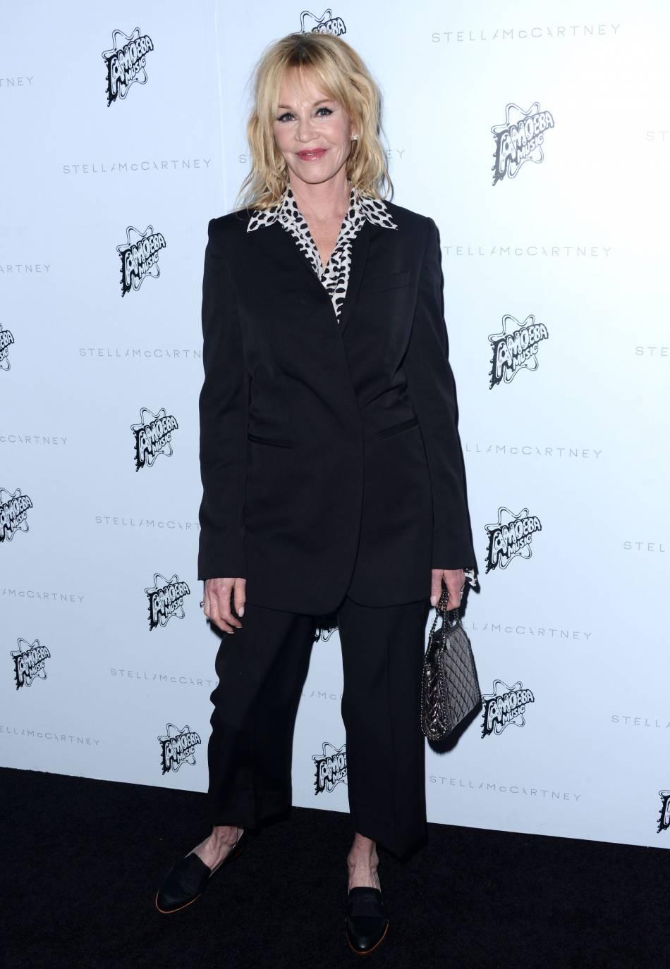 Melanie Griffith à la présentation de la collection de l'Automne 2016 de Stella McCartney, à Los Angeles, ce mardi 12 janvier 2016.