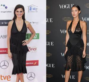 Penélope Cruz vs Bella Hadid : la robe transparente Balmain Printemps 2016