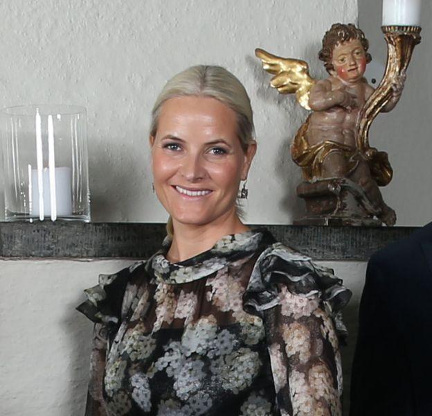 Mette-Marit et son mari le prince Haakon de Norvège.