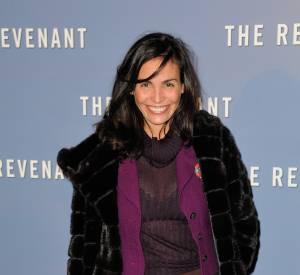 """Inés Sastre a assisté lundi soir à la projection de """"The Revenant"""" au Grand Rex, à Paris."""