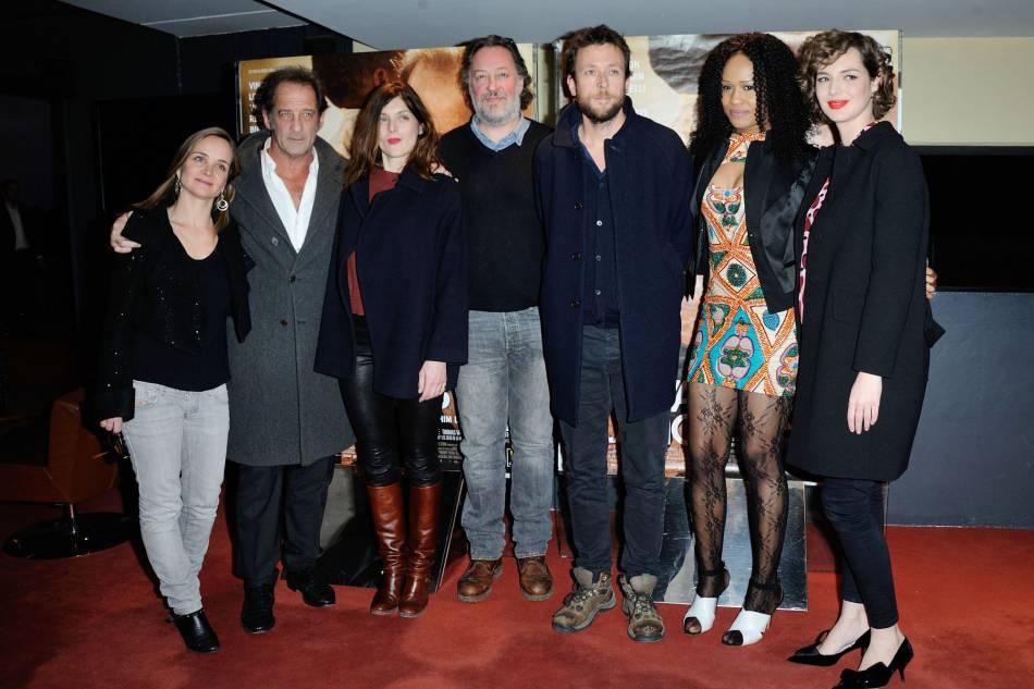 """Louise Bourgoin et l'équipe du film """"Les Chevaliers Blancs""""."""