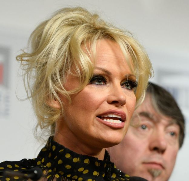 Pamela Anderson s'est exprimé à l'Assemblée nationale mardi 19 janvier 2016.