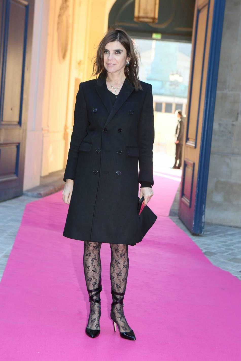 Carine Roitfeld au défilé Haute Couture Printemps-Été 2016 Schiaparelli.