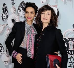 Farida Khelfa et Valérie Lemercier au défilé Haute Couture Printemps-Été 2016 Schiaparelli.
