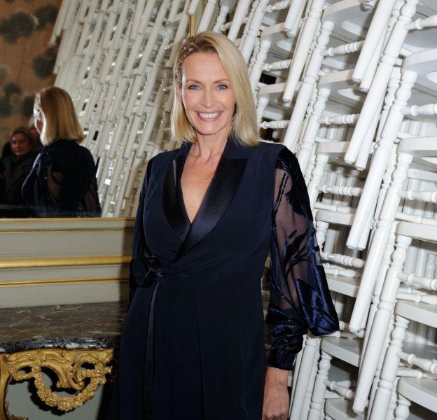 Estelle Lefébure lors du défilé Alexis Mabille Printemps-Été 2016 Haute Couture à Paris le 25 janvier 2016.