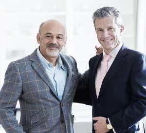 Christian Louboutinaux côtés de Daniel Riedo, CEO de Jaeger-LeCoultre.